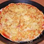 Pizza z Ananasem i Kurczakiem