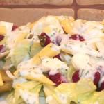 Sałatka z czerwoną fasolką i ogórkiem kiszonym (1)