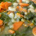 Zupa fasolowa ze szpinakiem 1