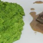 Wątróbka z sosem musztardowym i brokułowym puree (12)