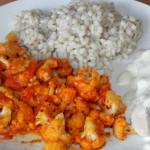 Kalafior z curry, kaszą i gotowanym kurczakiem 1