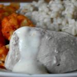 Kalafior z curry, kaszą i gotowanym kurczakiem 3