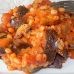 Pęczak z bakłażanem i pomidorami 3