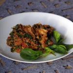 Komosa ryżowa z kurczakiem, szpinakiem i pomidorami (1)