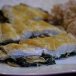Ryba z pieczarkami i szpinakiem