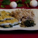 Ryba z pieczarkami i szpinakiem 2
