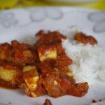 Paneer w sosie pomidorowo-paprykowym 5